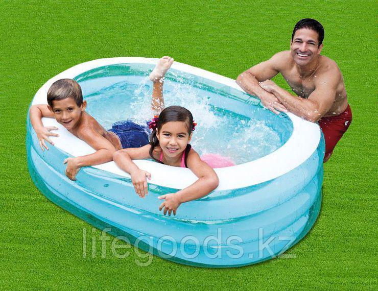 Детский надувной овальный бассейн 163х107х46 см, Intex 57482
