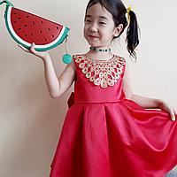 Оригинальное платье для девочки, от 4 до 10 лет