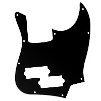 Guitar Pickguard для Black Top Jazz Bass с отверстием для пика PB