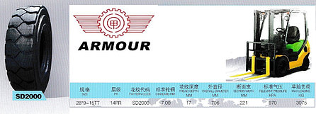 28/9-15 (8,15-15) 14PR SD2000 TT Armour, фото 2