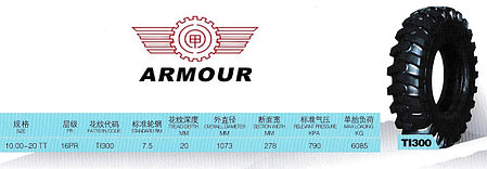 10,00-20 16PR TI300 TTF ARMOUR, фото 2