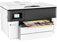 HP OfficeJet Pro 7740 WF AiO Printer (A3) Color Ink Printer/Scanner/Copier/Fax/ADF, 4800x1200 dpi, 1.2GHz, 512