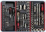 Тележка инструментальная с набором инструментовSPIN 196 предметов, фото 2