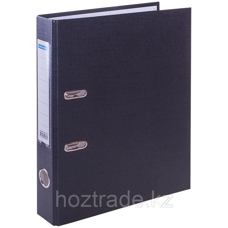 Папка регистратор OfficeSpace 50 мм, черный, с карманом на корешке.