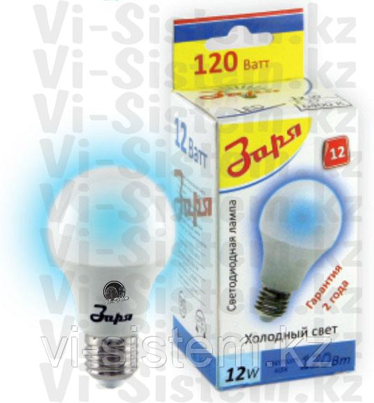 Лампа светодиодная Заря 12W E27 6400K A60