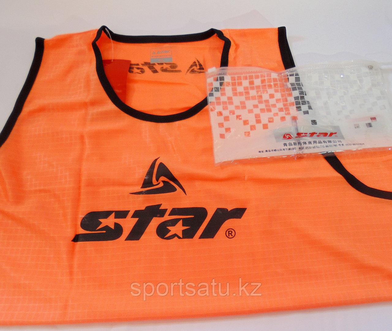 Футбольная накидка и манишки STAR