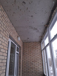 Утепление балкона с обшивкой декор панелью Акбулак 3 4