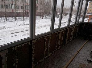 Утепление балкона с обшивкой декор панелью Акбулак 3 11