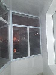 Утепление балкона с обшивкой декор панелью Акбулак 3 48