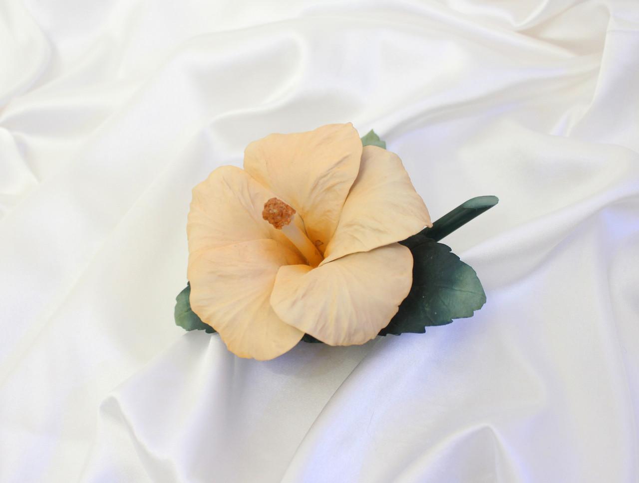 Фарфоровый цветок Гибискус. Италия. Ручная работа