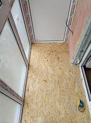Установка балконного витража с обшивкой стен декоративной панелью по адресу проспект Республики 11 1