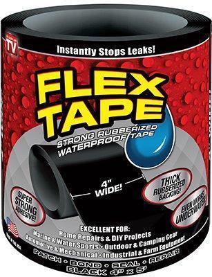 Водонепроницаемая изоляционная лента Flex Tape, цвет черный, фото 2
