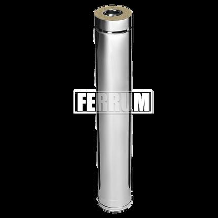 Дымоход Ferrum Сэндвич из нержавеющей стали 430/0,5 мм 1000мм, Ф120х200, фото 2