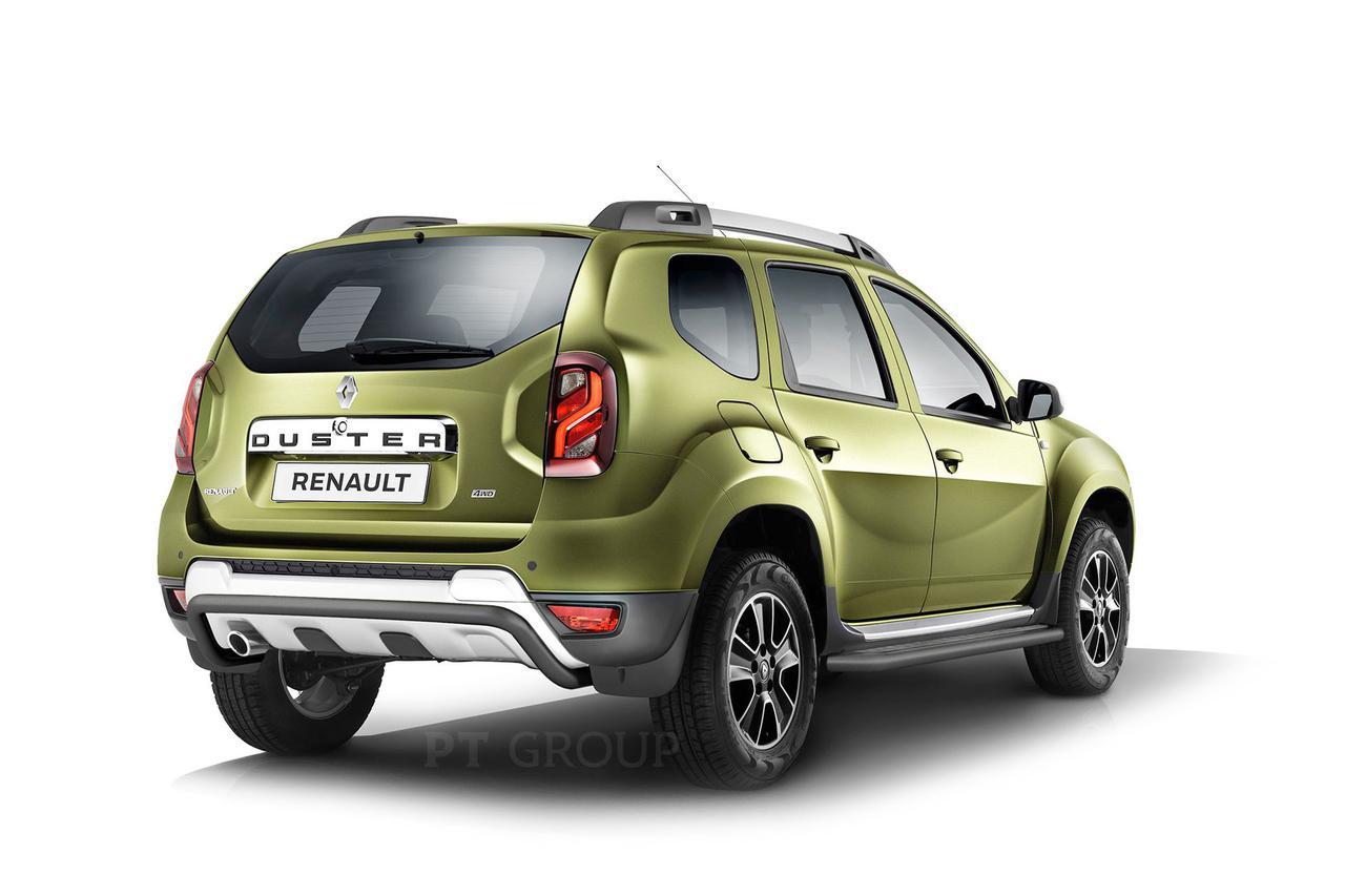 Защита порогов с алюминиевой площадкой 51мм (Шагрень) Renault Duster