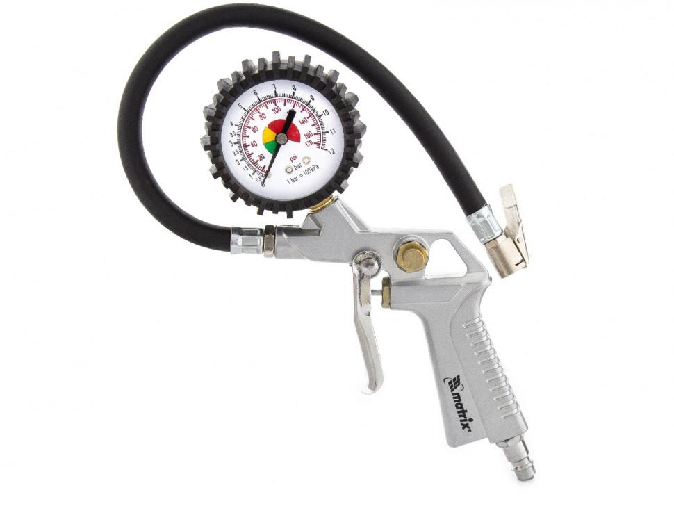 (57322) Пистолет для подкачки шин, пневматический// MATRIX