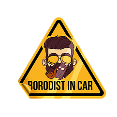 "Наклейка на машину ""BORODIST IN THE CAR"""