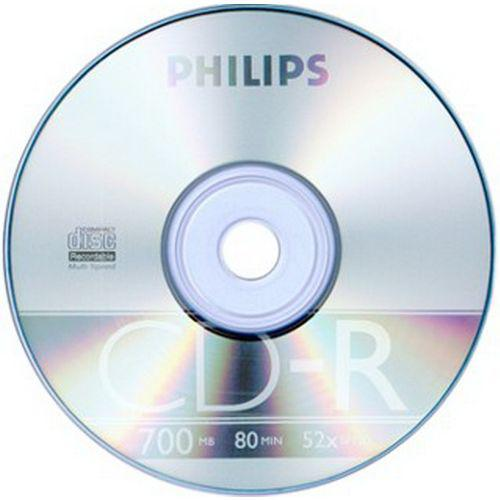 Диск CD-R 700Mb Philips, 52X , 1 шт