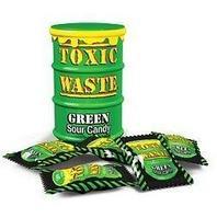 """Леденцы """"TOXIC WASTE"""" зеленая банка 42грх12х12 /TOXIC WASTE/Пакистан"""