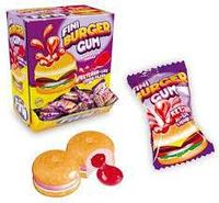 "Жев.резинка ""Бургер"" с вишнево-клубнич. наполнит. 5,5гр   (200шт в упаковке) /FINI Испания/"