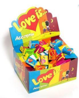 Жевательная резинка Love is… МИКС в ассортименте блок 100 шт