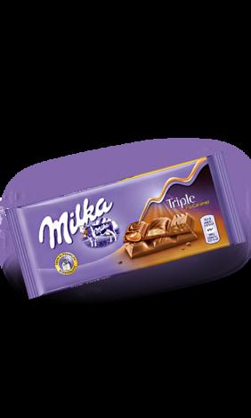 Milka Triple Caramel  (90 грамм)