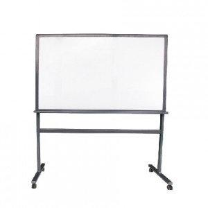 Доска 150*100 магнитно-маркерная, двухсторонняя, алюминиевая подставка, 4колеса., фото 2