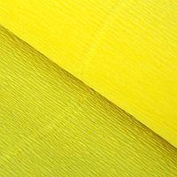 Бумага гофрированная 575 лимонная, 50 см х 2,5 м