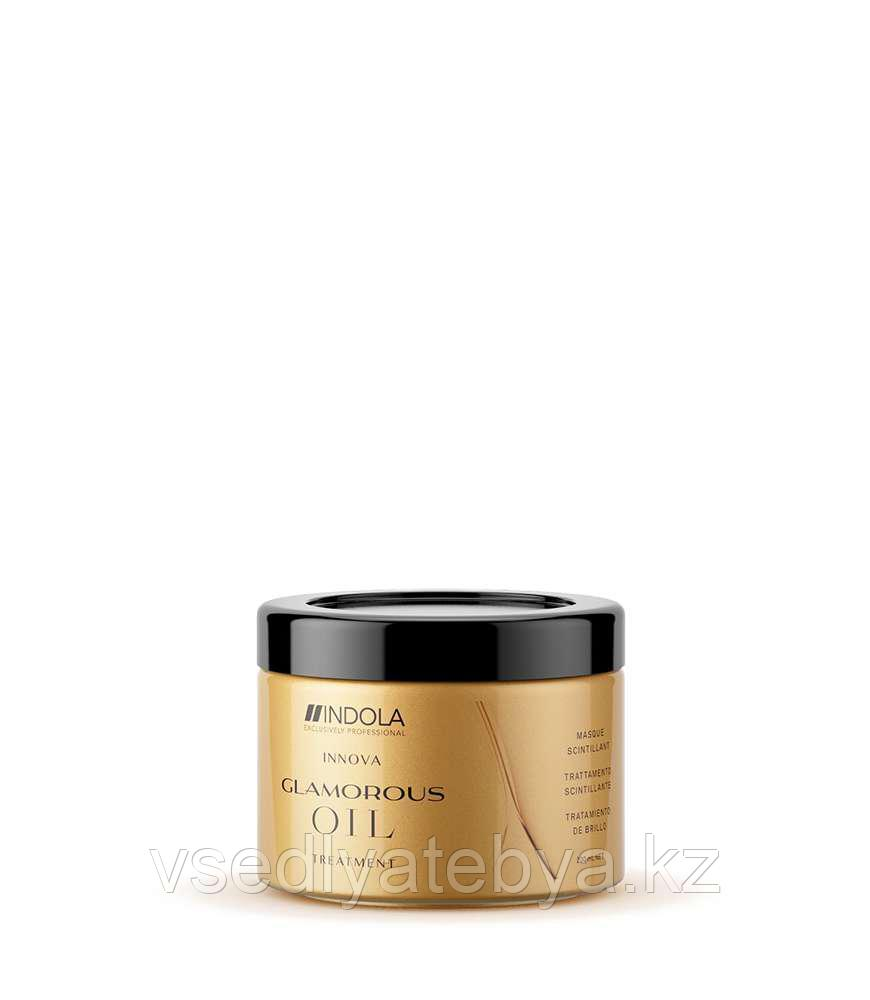 "Восстанавливающая смываемая маска ""Чарующее сияние"" Indola Glamorous Oil Treatment Hair Mask 200 мл"