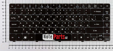 Клавиатура для ноутбука Acer Aspire 3810T, RU, черная, фото 2