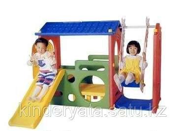 Детский игровой комплекс Haenim Toy Дом с горкой и качелей DS 703