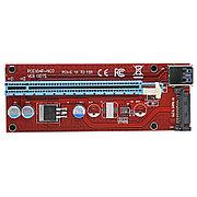 Riser / Райзер PCIE 1x - 16x, SATA, версия 007