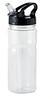 Пластиковая фляга для воды с удобным дозатором, 600 мл. Цвет прозрачный
