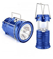 """Ручной светодиодный фонарь 2 в 1 синий """"Rechargeable Camping Lantern SH-5800T"""" с USB выходом"""