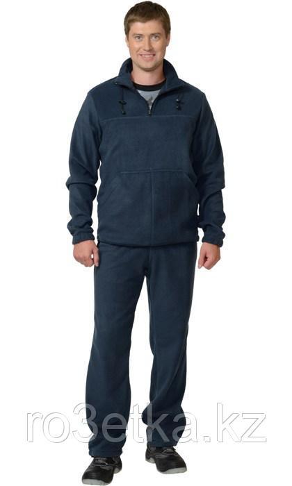Костюм флисовый: джемпер, брюки тёмно-синий
