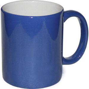 Кружка керамическая хамелеон синий