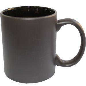 Кружка керамическая хамелеон внутри черная