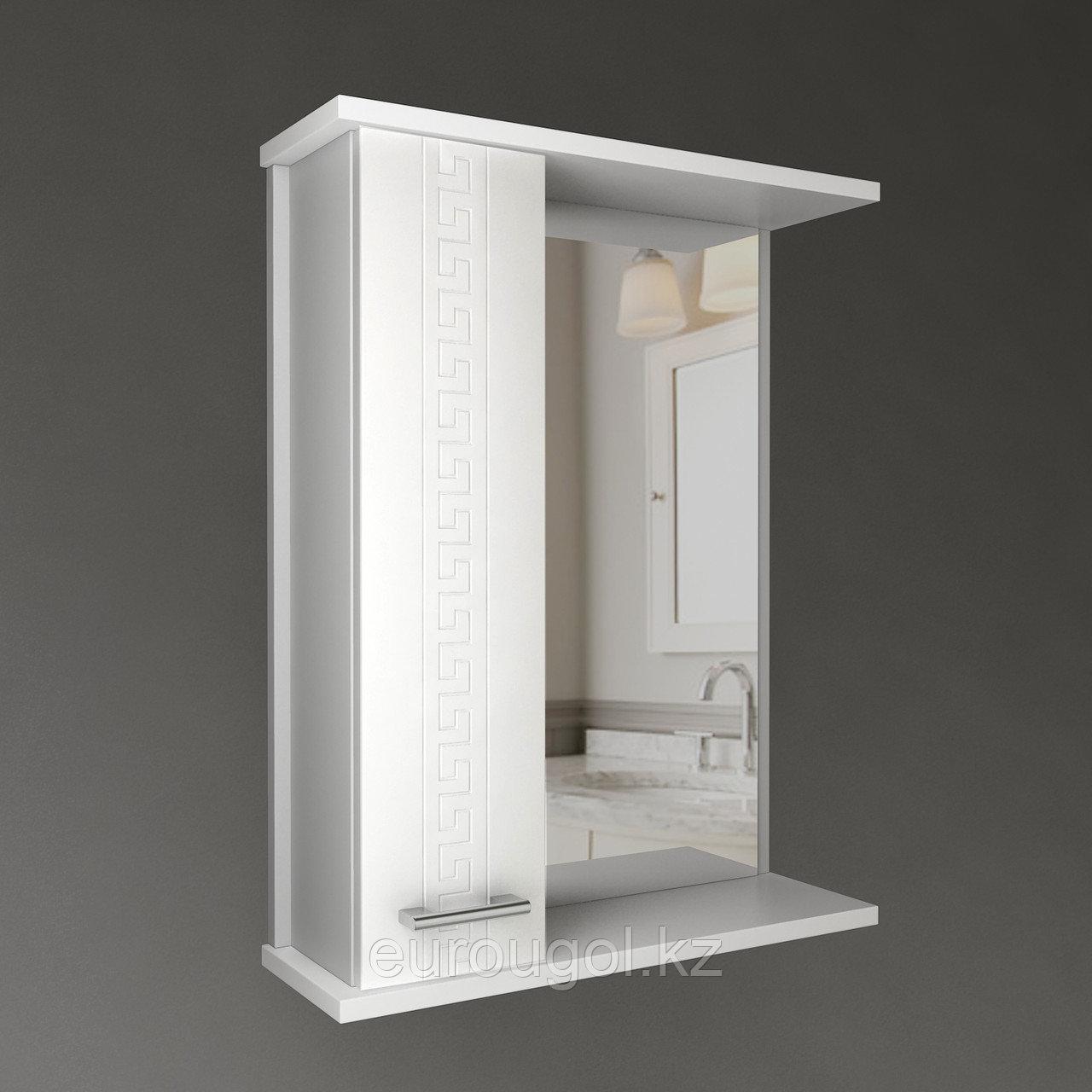 Шкаф - зеркало для ванной комнаты WaterWorld Троя 600 мм.