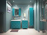 Тумба с раковиной для ванной комнаты WaterWorld Техно 800 мм, 3 двери, фото 2