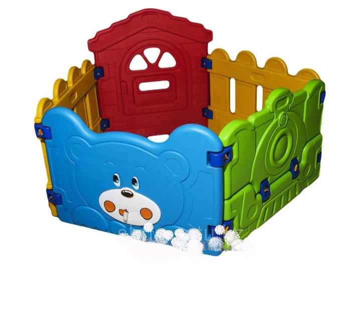 Пластиковый заборчик для детской площадки