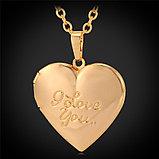 Кулон-медальон на цепочке ''I love you'' , фото 2