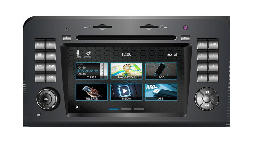 Штатное головное устройство Mercedes-benz Ml GL W164 2005-2011 «Dynavin»