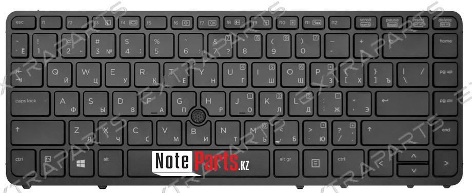 Клавиатура для ноутбука HP EliteBook 840 G1 (RU) черная с подсветкой