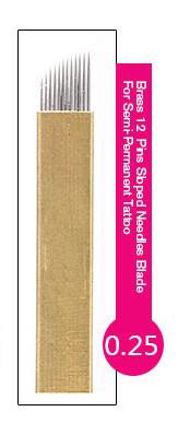 Иглы-лезвие PSD (12) для нанесение микроблейдинга, перманентного макияжа (татуажа) бровей