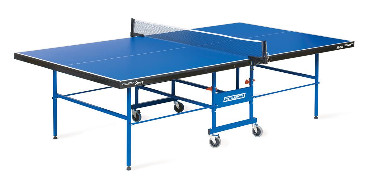 Теннисный стол Start Line Sport 18 мм, мет.кант, без сетки, регулируемые опоры