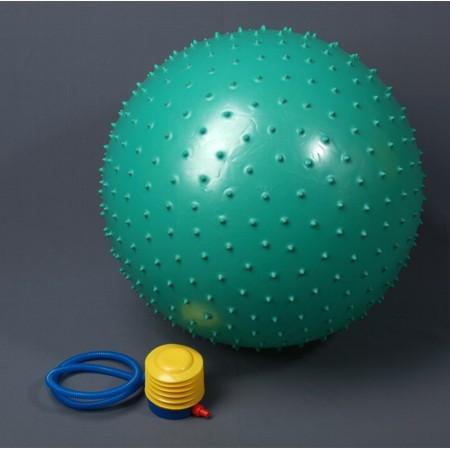 Фитбол, мяч для фитнеса массажный с насосом,d=75см