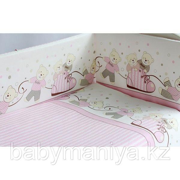 Комплект в кроватку PITUSO МИШКИ 6 предметов Розовый