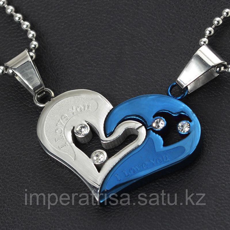 """Двойные кулоны """"Синее сердце"""""""