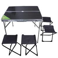 Комплект: стол раскладной и 4 табурета