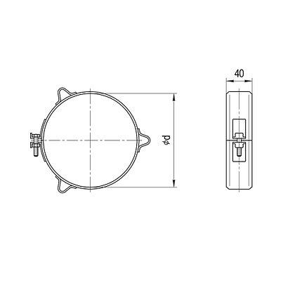 Хомут обжимной Ferrum Ф197-200 мм под растяжку, фото 2