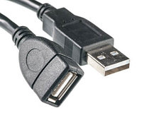 Кабель PowerPlant USB 2.0 AF – AM, 3м, One ferrite